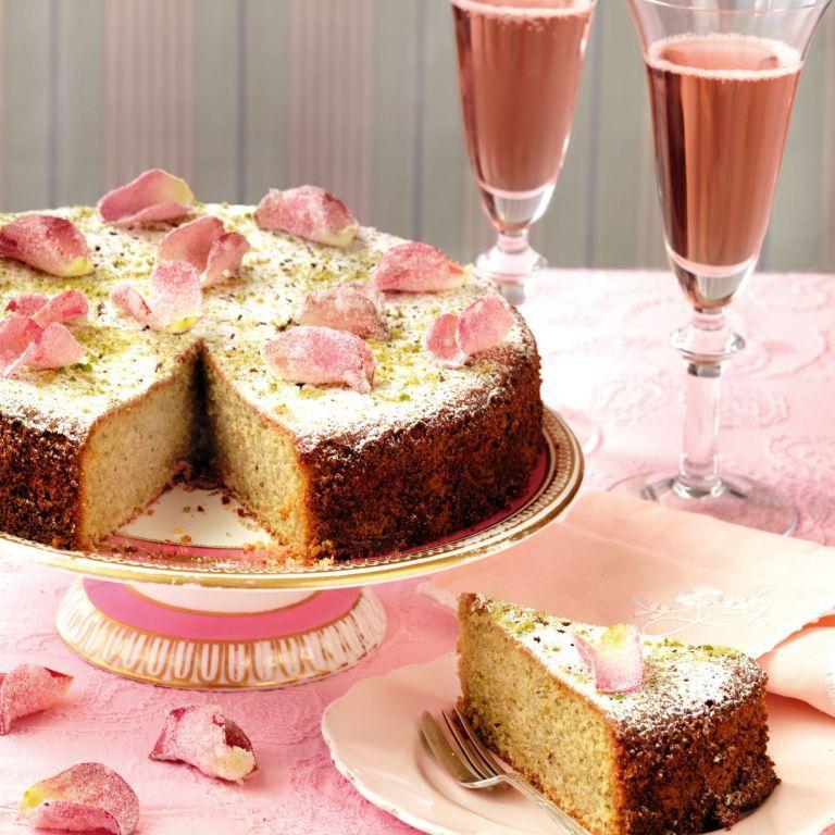 Pistazien-Rosen-Wasser-Kuchen-Rezept