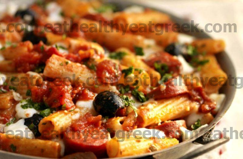 Rajčata a chorizo těstoviny pečí recept