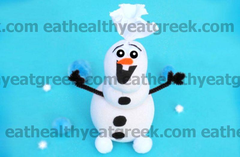 Как да си направим вдъхновен от Замръзналия Олаф снежен човек